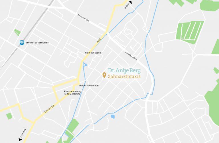 Standort Zahnarztpraxis Dr. Berg